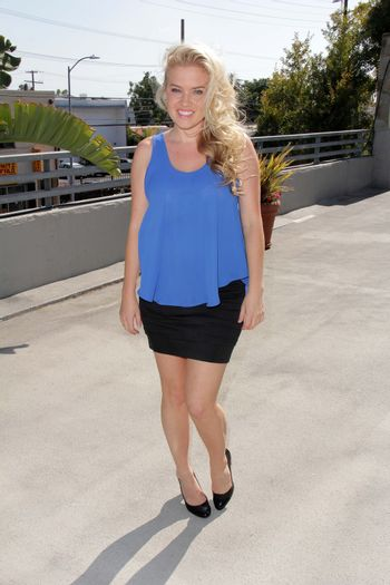 """Amber Mead at the TradioV Launch of """"Politically Naughty with Mary Carey,"""" TradioV Studios, Los Angeles, CA 06-03-13/ImageCollect"""