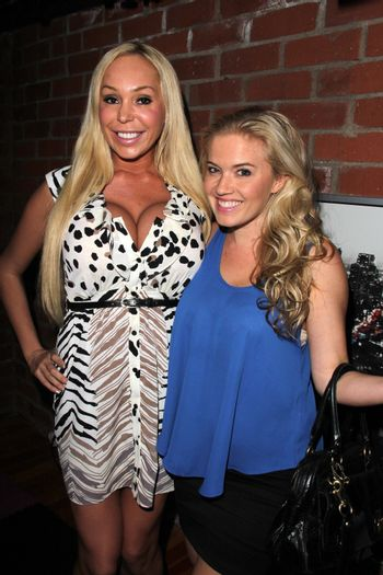 """Mary Carey, Amber Mead at the TradioV Launch of """"Politically Naughty with Mary Carey,"""" TradioV Studios, Los Angeles, CA 06-03-13/ImageCollect"""