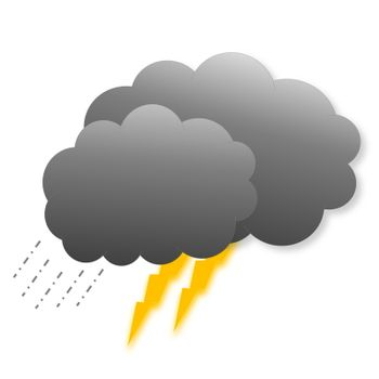 Stormy clouds as weather icon