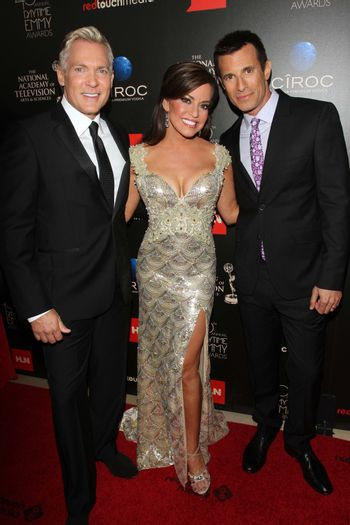 Sam Champion, Robin Mead and A.J. Hammer at the 40th Annual Daytime Emmy Awards, Beverly Hilton Hotel, Beverly Hills, CA 06-16-13/ImageCollect