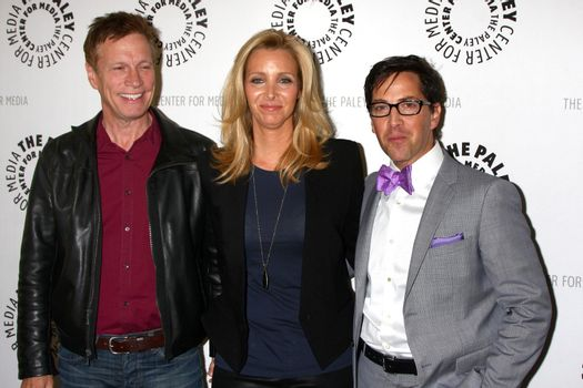 """Don Roos, Lisa Kudrow, Dan Bucatinsky Don Roos, Lisa Kudrow, Dan Bucatinsky at The Paley Center Presents: An Evening With """"Web Therapy,"""" Paley Center for Media, Beverly Hills, CA 07-16-13/ImageCollect"""