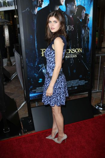 """Alexandra Daddario at the """"Percy Jackson: Sea of Monsters"""" Film Premiere, Americana at Brand, Glendale, CA 07-31-13/ImageCollect"""