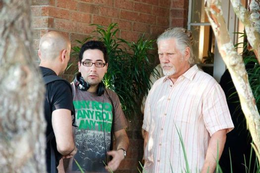 """Patricio Valladares, William Forsythe on the set of """"Hidden In The Woods,"""" Private Location, Richmond, TX 10-05-13 DailyCeleb.com 818-249-4998/ImageCollect"""