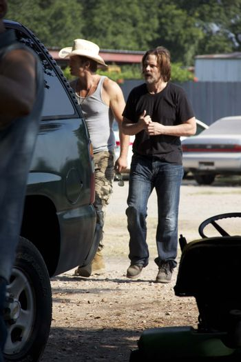 """Michael Biehn on the set of """"Hidden In The Woods,"""" Private Location, Richmond, TX 10-05-13 DailyCeleb.com 818-249-4998/ImageCollect"""
