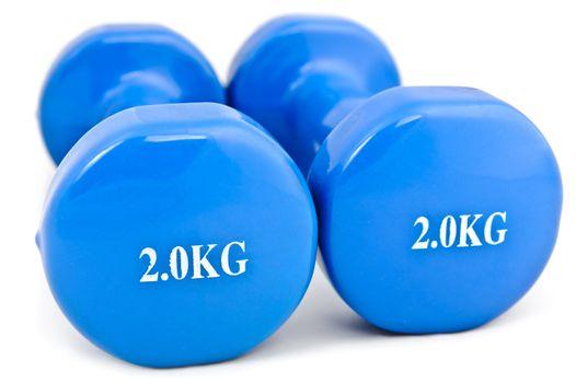 3 kg rubber dipped blue dumbbell