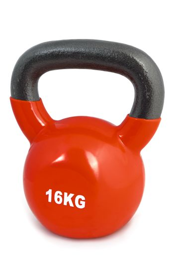 red 16 kg lifting weight