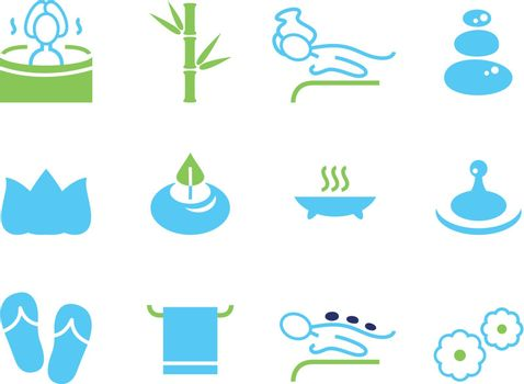 Spa and wellness design elements. Vector