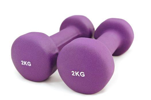 2 kg rubber dipped purple dumbbell