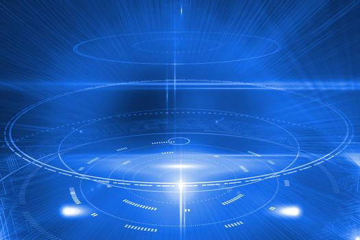 Futuristic shiny circles