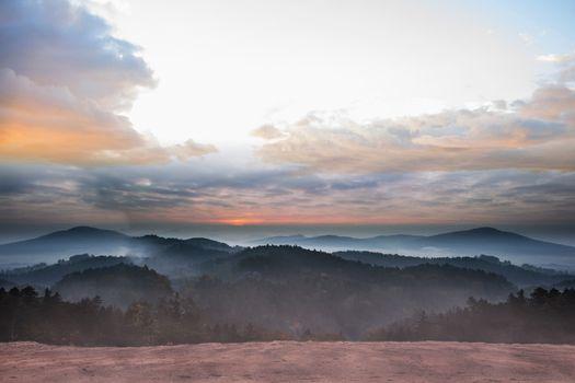 Epic mountain scenery