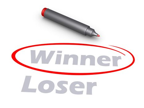 Selecting by circle the word Winner