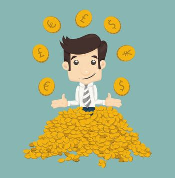 Businessman wealth