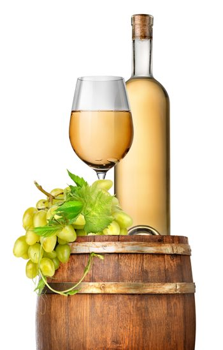 Green grape and wine