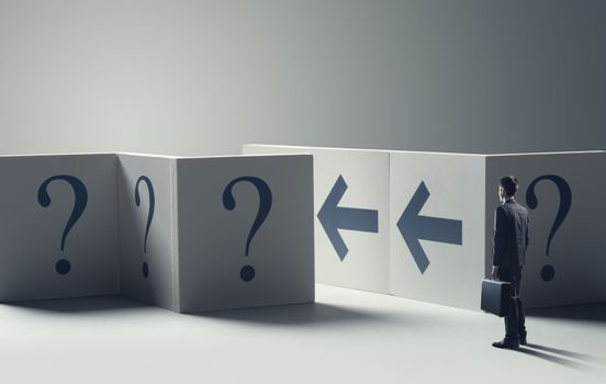 Uncertainty in business concept