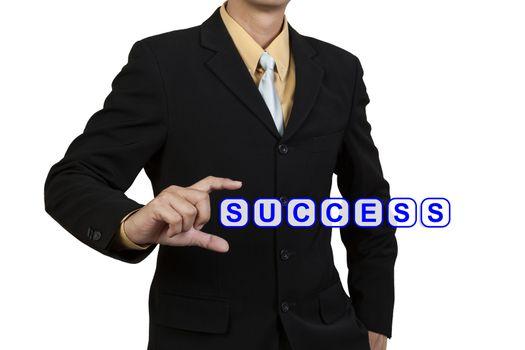 Businessman show word Success