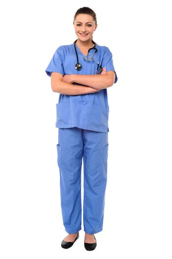Female physician posing with confidence
