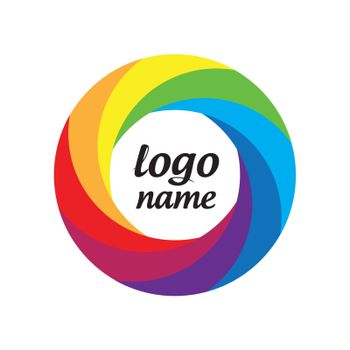 vector logo multicolored circle in motion