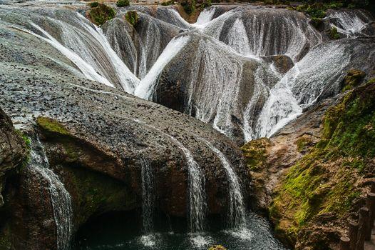 Silver pendant Lake Falls - was taken in China's Guizhou Huangguoshu