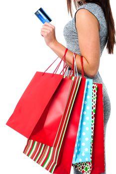 Fashionable woman, shopping concept