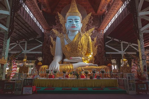 "Big Buddha in ""Nga Htat Gyi"" Pagoda, Yangon Myanmar"