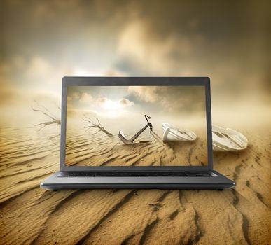 Desert on the monitor