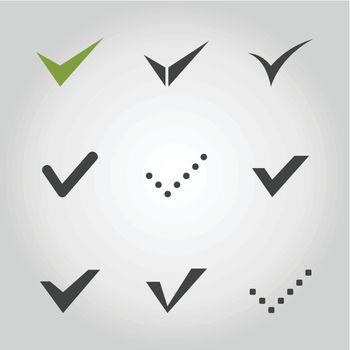 Tick an icon