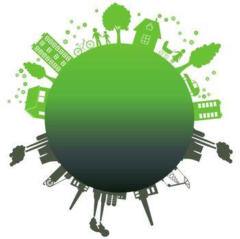 Environmentally symbols of urban lifestyles