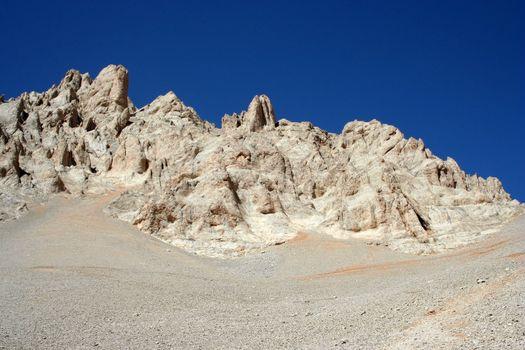 Rock mountain landscape from central toros mountains (Aladaglar)
