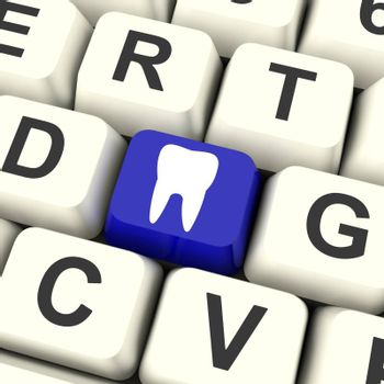 Tooth Key Meaning Dental Appointment Or Teeth