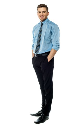 Full length view of a business executive