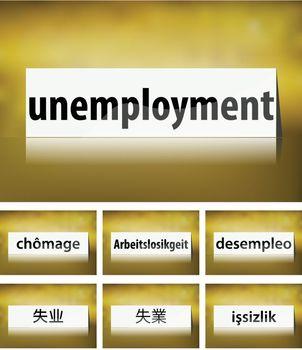 Unemployment Concept on white background