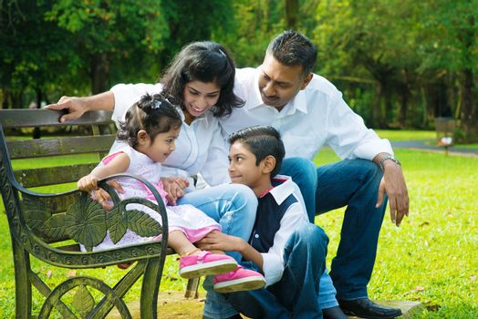 Happy Indian family candid