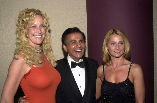 Erin Brockovich-Ellis, Casey Kasem and Nadia Comaneci at the Night Under The Stars Dinner-Dance to raise money for MS. Beverly Hills, 04-29-00