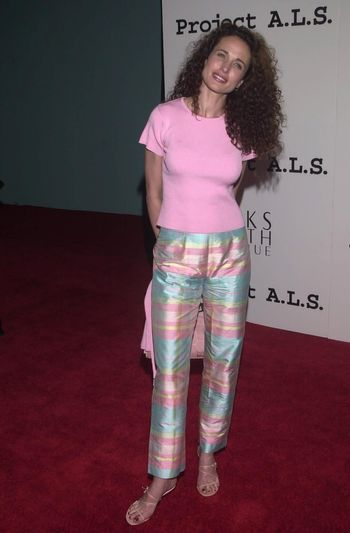 Andie MacDowell at the 2nd Annual ALS Benefit at the Hollywood Palladium, 04-10-00