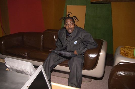 Coolio on the set of the Dr. Drew Show, Pasadena, 04-19-00