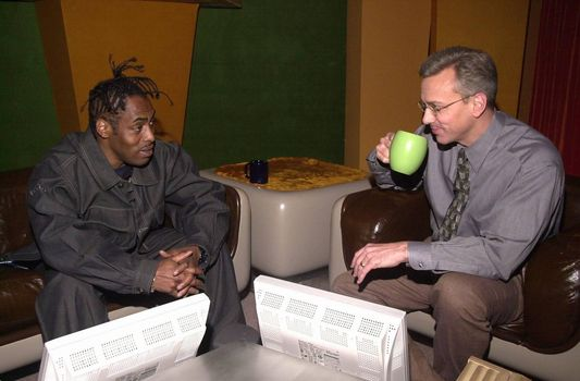 Coolio and Dr. Drew on the set of the Dr. Drew Show, Pasadena, 04-19-00