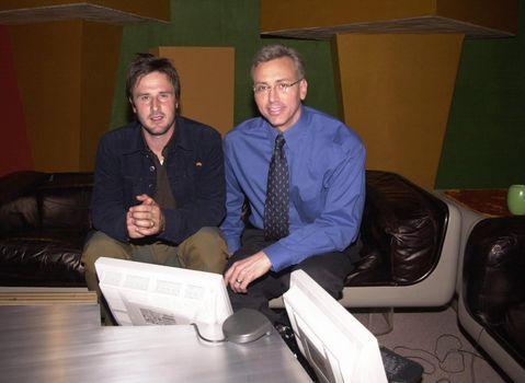 David Arquette and Dr. Drew Pinsky on the Dr. Drew Internet Show, Pasadena, 04-12-00