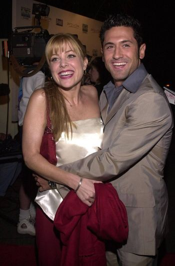 """Jennifer Aspen and David O'Donnell at the """"Party Of Five"""" series wrap party, Hollywood, 04-06-00"""