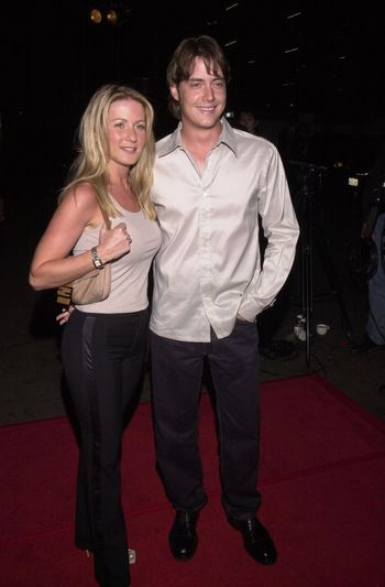 """Jeremy London and Astrid Rossol at the """"Party Of Five"""" series wrap party, Hollywood, 04-06-00"""