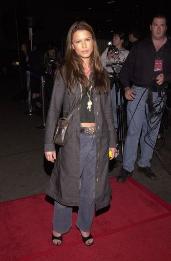 """Rhona Mitra at the """"Party Of Five"""" series wrap party, Hollywood, 04-06-00"""