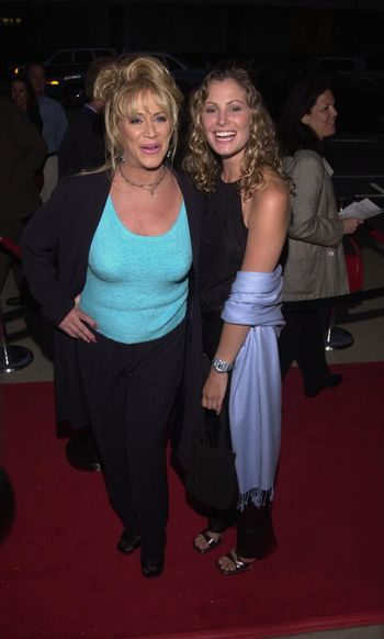 """Marilyn Chambers and Tracy Hutson at the premiere of Showtime's """"RATED X"""" in Hollywood, 04-27-00"""