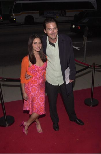 """Geoffrey Blake and wife Marsha at the premiere of Showtime's """"RATED X"""" in Hollywood, 04-27-00"""