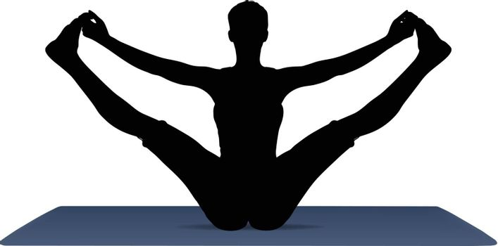 Illustration of Yoga pose on a yoga mat
