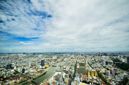 business center in Ho Chi Minh City on Vietnam Saigon