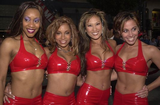 """Nitro Girls at the premiere of Warner Brother's """"READY TO RUMBLE"""" in Hollywood, 04-05-00"""
