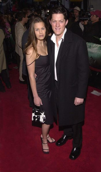 """Natalie Widmore and Dirk Cheetwood at the premiere of Universal's """"U-571"""" in Westwood, 04-17-00"""