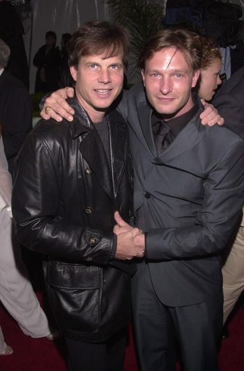 """Bill Paxton and Thomas Kretschmann at the premiere of Universal's """"U-571"""" in Westwood, 04-17-00"""