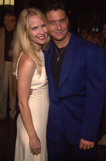 Bryan Genesse and Brooke Theiss at the premiere of Very mean Men in Beverly Hills. 08-15-00