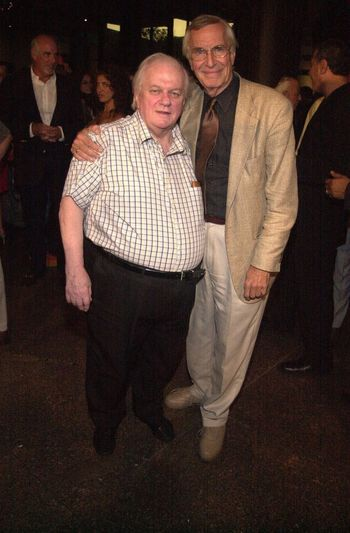 Charles Durning and Martin Landau at the premiere of Very mean Men in Beverly Hills. 08-15-00