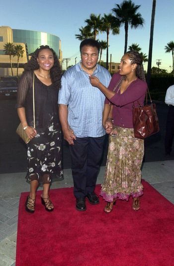 """Muhammad Ali and Meme and Hannah at the premiere of """"Original Kings of Comedy"""" in Hollywood. 08-10-00"""